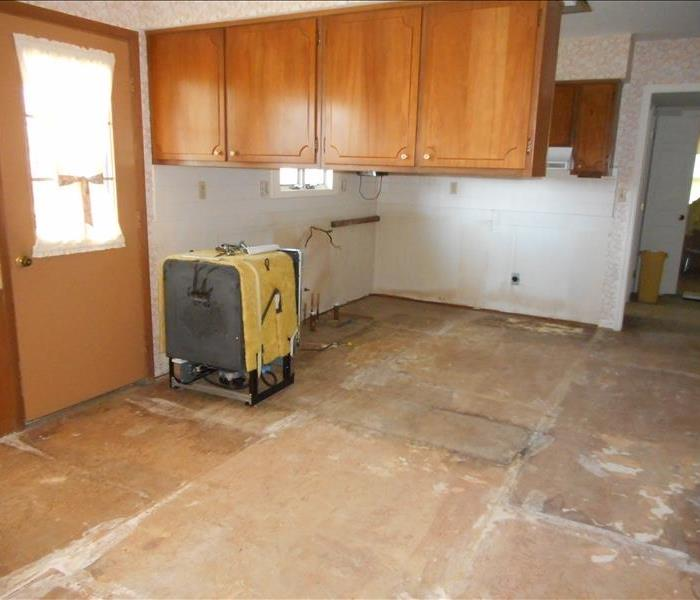 Kitchen Water Loss, Complete Remodel Before